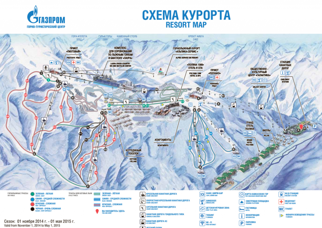 Схема трасс Газпром